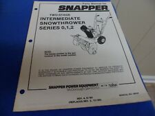 (Drawer 25) Snapper Two Stage SNowthrower Series 0 1 2  Parts Manual