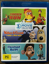 DreamWorks 3-Movie Collection: Chicken Run+Curse of the Were Rabbit+Flushed Away