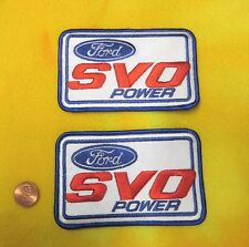 SET OF 2 - FORD MUSTANG SVO POWER VINTAGE PATCH - ORIGINAL RARE