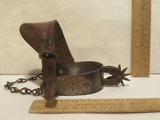 August Buermann Eureka Cowboy Spur with heel chain - Western Single Spur - # 2