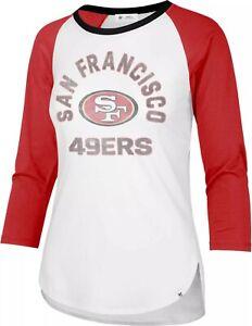 San Francisco 49ers Women's '47 Brand 3/4 Sleeve Raglan Tee - FREE SHIPPING!