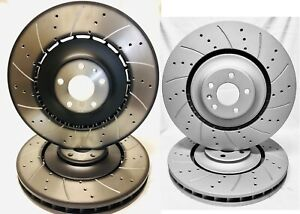 Drilled & Slotted F&R (Audi OEM Fronts) Brake Rotors 400mm/356mm Audi S6, S7, S8