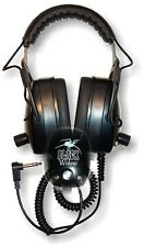 Detector Pro Black Widow Headphones with Angled Plug ~ Lifetime Warranty