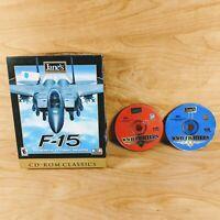 Jane's Combat Simulations F-15 Simulator Big Box & WW2 Fighters PC CD-ROM Games