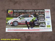 Michael BOHM - original autogramm, Fiat ABARTH 500 R3T, Karte/card cca 10x21 cm