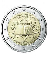 Pièce Commémorative de Grèce Traité de Rome 2007.