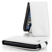 Schutz Hülle für Nokia Lumia 820 Schale Tasche Handy Cover Flip Case Etui Weiss