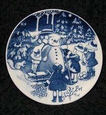 The Snowman Children's Christmas Plate Royal Copenhagen Ingrid Jensen 1999