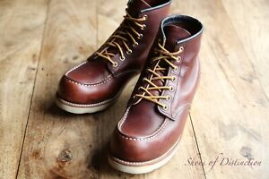 Men's Red Wing 813 Moc Toe Brown Leather Boots UK 7 US 8 EU 41
