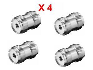 S0259 PL259 Back/Back Female Connector Convertor Barrel  Adaptor Pack Of 4