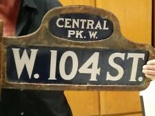 New York City Humpback 1920's Original Porcelain Street Sign