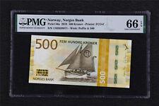 2018 Norway Norges Bank 500 Kroner Pick#56a PMG 66 EPQ Superb Gem UNC