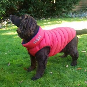 Gillet Puffa Jacket for Dogs Reversible Red Blue Padded Warm Coat Superb Quality