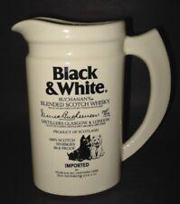 Buchanan BLACK & WHITE Scotch Whiskey ADVERTISING PITCHER JUG Westie Terrier Dog