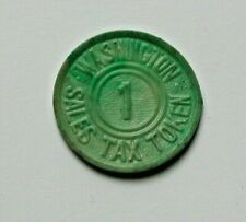 (1943) State of WASHINGTON Sales Tax Commission Plastic Token - 1 Mill - 0.1¢