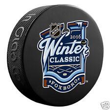 2016 WINTER CLASSIC HOCKEY SOUVENIR PUCK  - Boston Bruins vs Montreal Canadiens