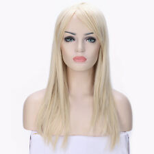 Natural Hair Wigs with Bangs Long Curly Wavy Straight Women Wig Cosplay Party fy