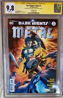 Dark Nights Metal 1 CGC SS 9.8 Signed Gal Gadot Jim Lee Wonder Woman 1984 WW84