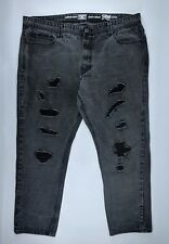 Jordan Craig Mens Gray Legacy Edition Raphael Jeans Destroyed Patched  42/32