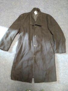 "British Rail long  Donkey Jacket coat, BR Buttons Size large  46"" chest C234"