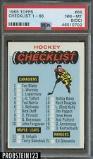 1965 Topps Hockey #66 Checklist 1 - 66 PSA 8 (OC) NM-MT