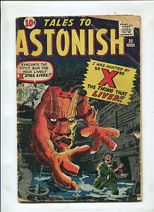TALES TO ASTONISH #20 (2.5) X, THE THING THAT LIVED!