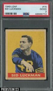 1949 Leaf Football #15 Sid Luckman Chicago Bears HOF PSA 2 GOOD
