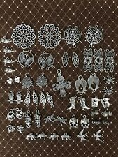 Lot Tibetan Charms Silver Tone For Jewelry Making Findings Dog Cat - Lot 22