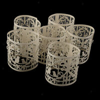12pcs Birds Tea Light Candle Holders Flameless Candles Wrap Gift for Wedding