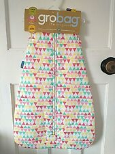 Grobag 2.5 Tog Rouge Zig Zag Bunting Sleeping Bag Choose Your Size 0 - 36M BNWT