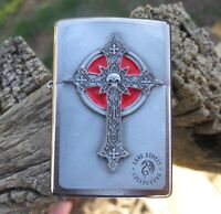ZIPPO ANN STOKES GOTHIC CROSS EMBLEM LIGHTER RARE COLLECTABLE NEW IN BOX