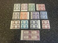 KUWAIT POSTAGE STAMPS SG52-63 INC 60A BLOCKS OF 4 UN-MOUNTED MINT