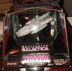 Battlestar Galactica Titanium Series Die Cast With Display Case 2006 Hasbro NEW