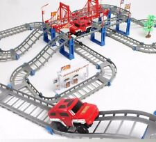 Train Rail Toys Racing Car 2 Layers Tracks Model Play Sets For Children