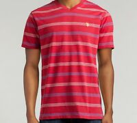 US Polo Assn Men's Red Striped V-Neck Cotton T-Shirt Size XL New w/Tags