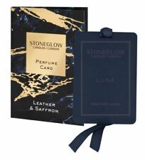 Stoneglow Luna Perfume Card - Leather & Saffron