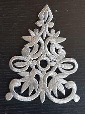 hotfix metallic silver embroidery patch lace applique venise dress dance costume