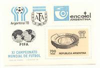 ARGENTINIEN 1978 Fußballweltmeisterschaft, Block 20, einwandfrei postfrisch