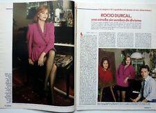 *ROCIO DURCAL => RECORTE de prensa 3 PAGINAS  (año 1990)