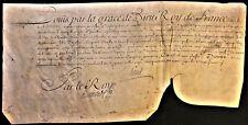 KING LOUIS XV SIGNED LETTER ON PARCHMENT - 1740 König von Frankreich Rey Luis XV