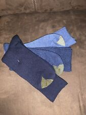 GOLD TOE 3 pair  Men's Turn cuff Blue Socks