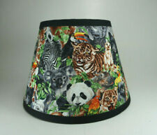 Jungle Elephant Tiger Zebra Panda Rino Giraffe Fabric Lampshade Lamp Shade