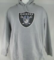 Oakland Raiders NFL Men's Gray Mid-Weight Pullover Hoodie