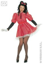 Ladies Red White Polka Dot Minnie Mouse Disney Animal Fancy Dress Size 16-20