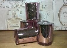 Mercury Glass Candle/Tea Light Holders set 5. Wedding Gift Living Dining Bedroom