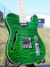 WELLER TELESTAR*QUILTED MAPLE*MAPLE NECK*STRINGS THRU BODY *AHORN HALS *GRÜN