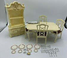 *VINTAGE* SINDY DINING ROOM PLAYSET TABLE - CHAIRS And Accessories Marx Toys