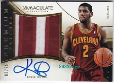 2013-14 IMMACULATE PREMIUM 3CL PATCH AUTO: KYRIE IRVING #3/25 ON CARD AUTOGRAPH