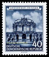 EBS East Germany DDR 1955 Zwinger, Dresden - Dresdner Zwinger - Michel 496 MNH**