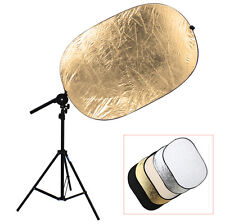 Studio Photo Kit Reflector Bracket Arm + Light Stand + 5in1 60x90cm Reflector